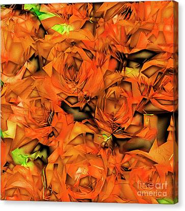 Canvas Print featuring the photograph Roses In Abstract 20170325 Square by Wingsdomain Art and Photography