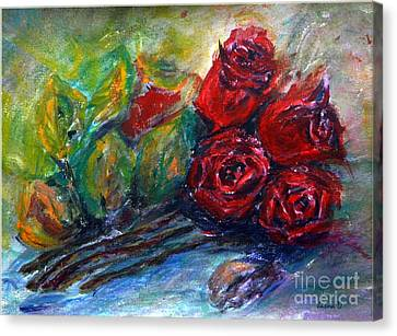 Roses Canvas Print by Jasna Dragun