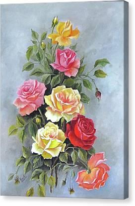 Roses Canvas Print by Katia Aho