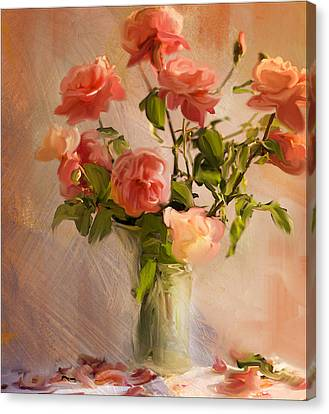 Roses La Belle Canvas Print