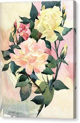 Roses Canvas Print by Natalia Eremeyeva Duarte