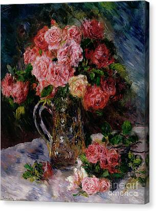 Roses Canvas Print by Pierre Auguste Renoir