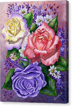 Roses Canvas Print by Quwatha Valentine
