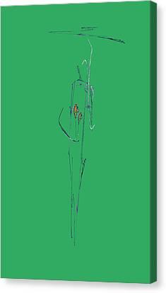 Roses Under Umbrella Canvas Print by Viktor Savchenko