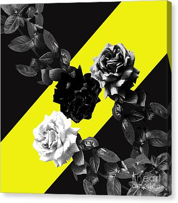 Roses Versus Yellow Canvas Print