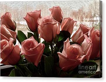 Roses With Love Canvas Print