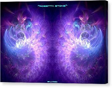 Cryptic Canvas Print - Rosetta Stone. by Enjargo  Art