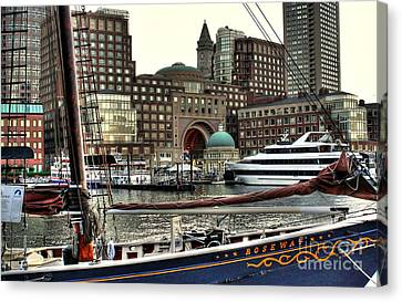 Canvas Print featuring the photograph Roseway Boston by Adrian LaRoque