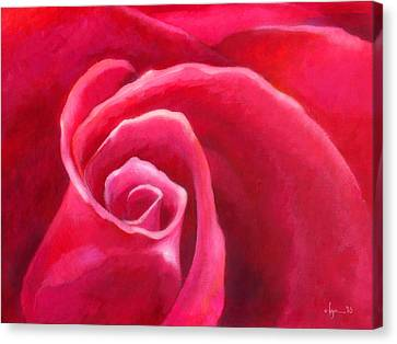 Rosey Lover Canvas Print by Angela Treat Lyon