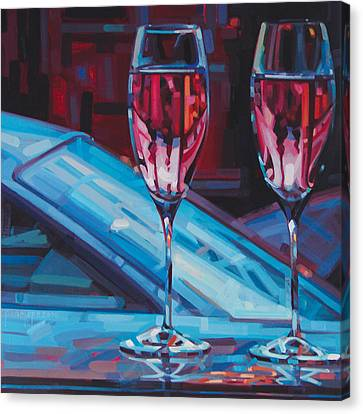 Tasting Canvas Print - Rosey Twins by Penelope Moore