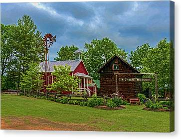 Rosholt Pioneer Park Canvas Print by Trey Foerster