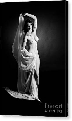 Rosie Nude Fine Art Print In Sensual Sexy 4609.01 Canvas Print by Kendree Miller