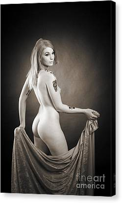 Rosie Nude Fine Art Print In Sensual Sexy 4634.01 Canvas Print by Kendree Miller