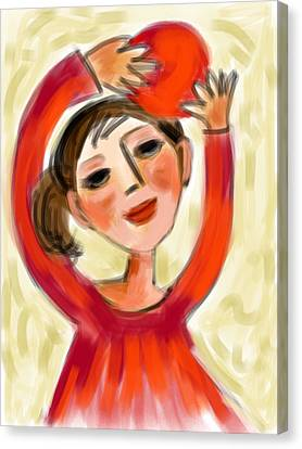 Rosie Red  Canvas Print by Elaine Lanoue