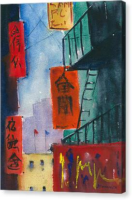 Ross Alley, Chinatown Canvas Print by Tom Simmons