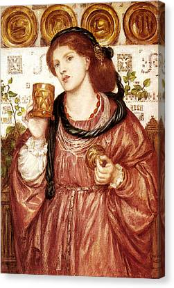 Rossetti Dante Gabriel The Loving Cup Canvas Print by Dante Gabriel Rossetti