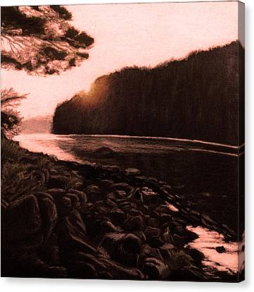 Rosy Glow Of Morning Canvas Print