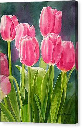 Tulip Canvas Print - Rosy Pink Tulips by Sharon Freeman