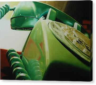Phone Canvas Print - Rotary by Denny Bond