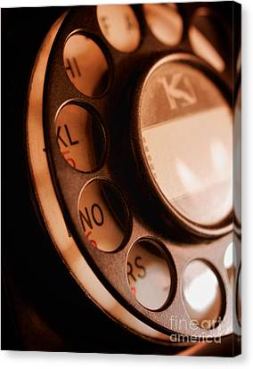 Rotary Dial Canvas Print by Mark Miller