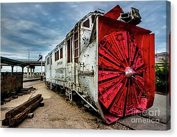 Canvas Print featuring the photograph Rotary Snow Plow Vintage Train - Utah by Gary Whitton
