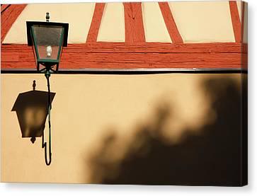 Canvas Print featuring the photograph Rotenburg Lantern by KG Thienemann