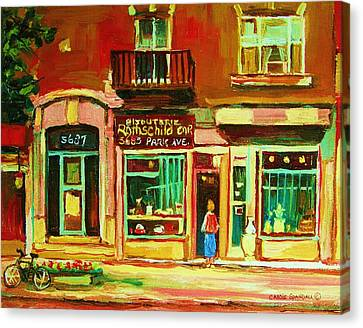 Rothchilds Jewellers On Park Avenue Canvas Print by Carole Spandau