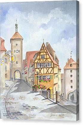 Rothenburg In Germany Canvas Print by Jean White