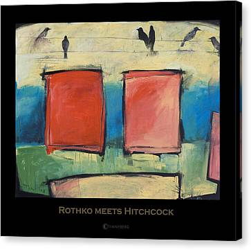 rothko meets hitchcock poster canvas print by tim nyberg
