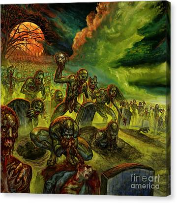 Rotten Souls Taint The Land Canvas Print by Tony Koehl