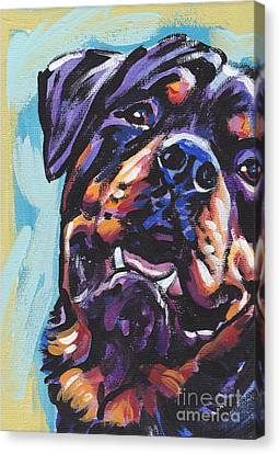 Rottie Power Canvas Print