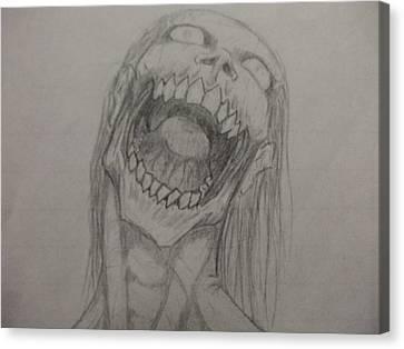 Canibal Canvas Print - Rotting Hunger by John Prestipino