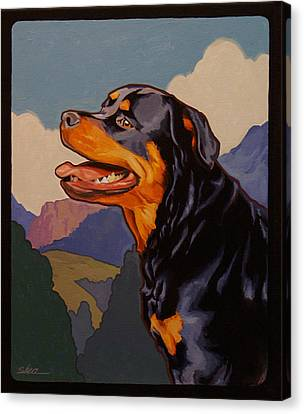 Rottweiler In Rottweil Canvas Print by Shawn Shea