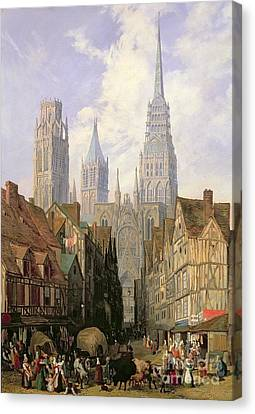 Rouen Cathedral Canvas Print by Lewis John Wood