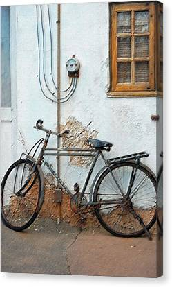 Rough Bike Canvas Print by Robert Meanor