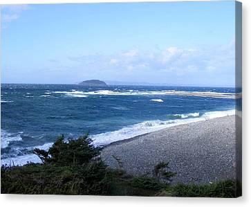 Canvas Print featuring the photograph Rough Day On The Point by Barbara Griffin