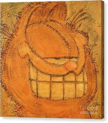 Smiling Canvas Print - Rough Garfield by The Garfield Collection