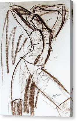Canvas Print featuring the drawing Rough  by Jarko Aka Lui Grande