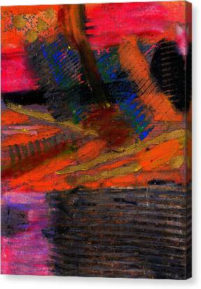 Canvas Print featuring the painting Rough Passage by Angela L Walker