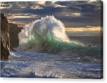 Rough Sea 11 Canvas Print by Giovanni Allievi
