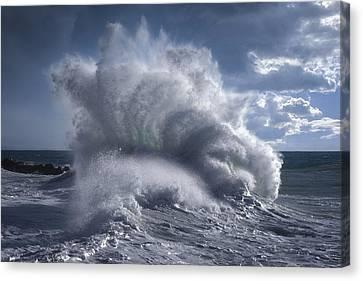 Rough Sea 20 Canvas Print by Giovanni Allievi