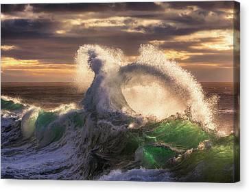 Rough Sea 23 Canvas Print by Giovanni Allievi