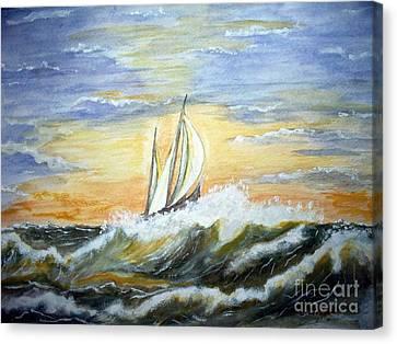 Rough Seas Canvas Print by Carol Grimes