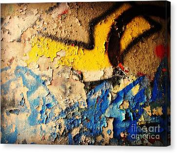 Canvas Print featuring the photograph Listen To The City by Kristine Nora