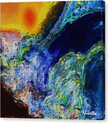 Rough Seas Canvas Print by Andrea N Hernandez