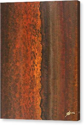 Rough Timber Original Painting Canvas Print by Sol Luckman