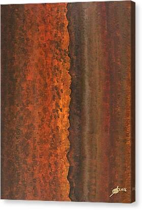 Rough Timber Original Painting Canvas Print