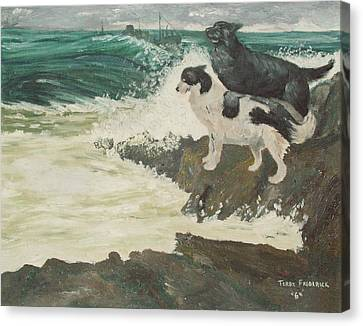 Canvas Print featuring the painting Roughsea by Terry Frederick