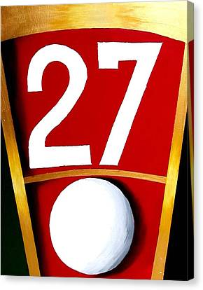 Roulette 27 Red  Canvas Print by Teo Alfonso