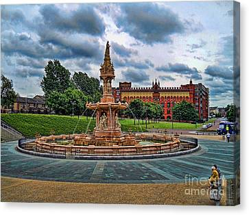 Canvas Print featuring the photograph Round About by Roberta Byram